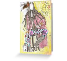 trible fashion illustration Greeting Card