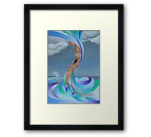 The Eye of the Storm Framed Print
