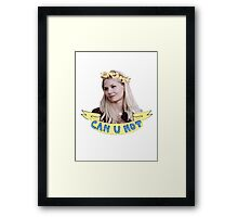 Emma Swan doesn't take any of your poop Framed Print