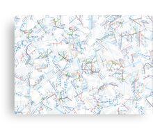 Tube Map  Metal Print