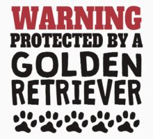 Protected By A Golden Retriever One Piece - Long Sleeve