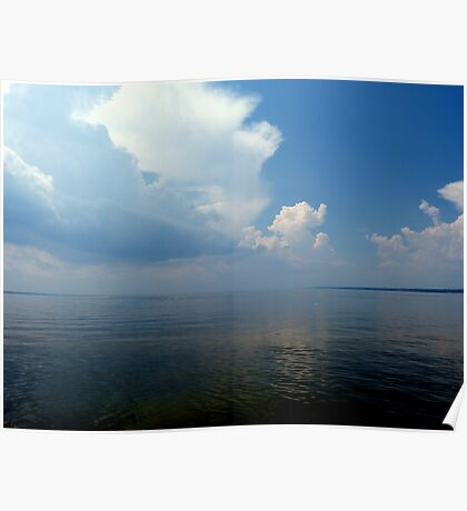 Storm Clouds Over Oneida Lake Poster