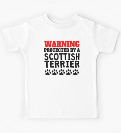 Protected By A Scottish Terrier Kids Tee