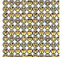 Random Yellow smiley collection Photographic Print