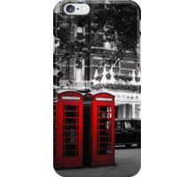 Red Telephone Boxes iPhone Case/Skin