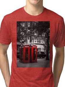 Red Telephone Boxes Tri-blend T-Shirt