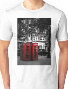 Red Telephone Boxes Unisex T-Shirt