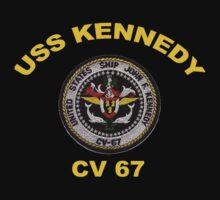 USS John F. Kennedy (CV-67) Crest for Dark Colors by Spacestuffplus
