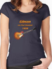 Vintage Les Paul 1959 Women's Fitted Scoop T-Shirt