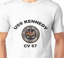 USS John F. Kennedy (CV-67) Crest Unisex T-Shirt