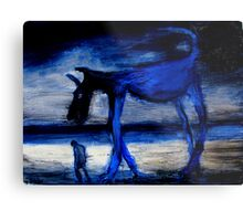 walking with the old blue dog Metal Print