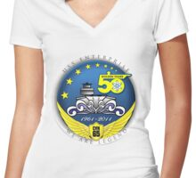 USS Enterprise (CVN-65) at 50! Women's Fitted V-Neck T-Shirt