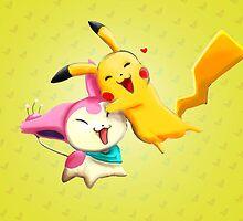 Pokemon hugs by Mikaishmu