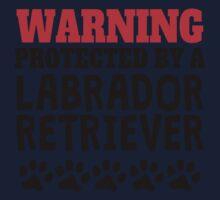 Protected By A Labrador Retriever Kids Tee