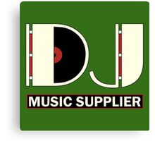 DJ Music Supplier Canvas Print