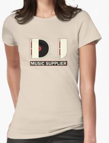 DJ Music Supplier Womens Fitted T-Shirt