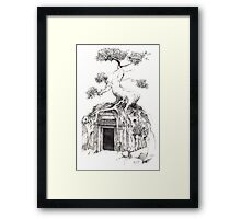 and thus, i stood before the door into my own true self and stepped forward. Framed Print