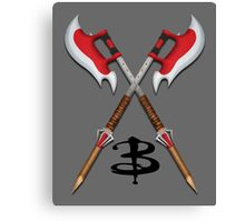 Buffy -- Scythes Crossed Canvas Print