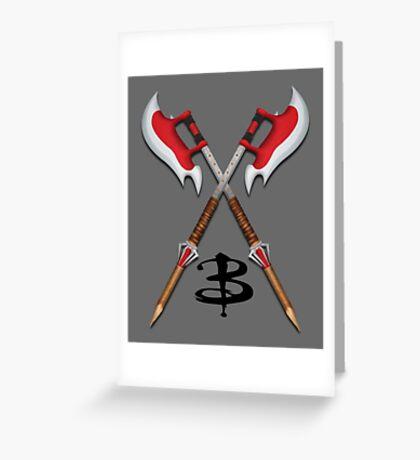 Buffy -- Scythes Crossed Greeting Card