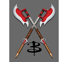 Buffy -- Scythes Crossed Photographic Print