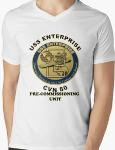PCU Enterprise (CVN-80) Crest Mens V-Neck T-Shirt