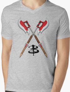 Buffy -- Scythes Crossed Mens V-Neck T-Shirt