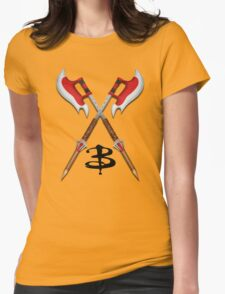 Buffy -- Scythes Crossed Womens Fitted T-Shirt