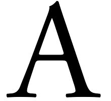 A, Alphabet Letter, A to Z, Alpha, Adam, Aaron, 1st Letter of Alphabet, Initial, Name, Letters, Tag, Nick Name by TOM HILL - Designer