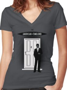 The American Timelord Women's Fitted V-Neck T-Shirt