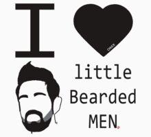 -CHUCK- I <3 little Bearded MEN (Morgam Grimes) Baby Tee