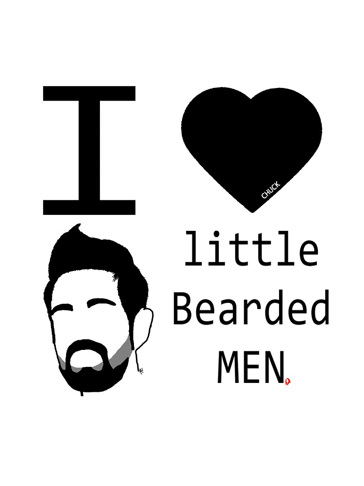 -CHUCK- I <3 little Bearded MEN (Morgam Grimes) by red-of-head