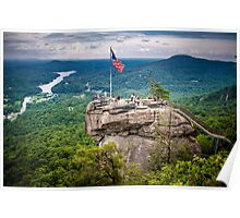 chimney rock, nc Poster