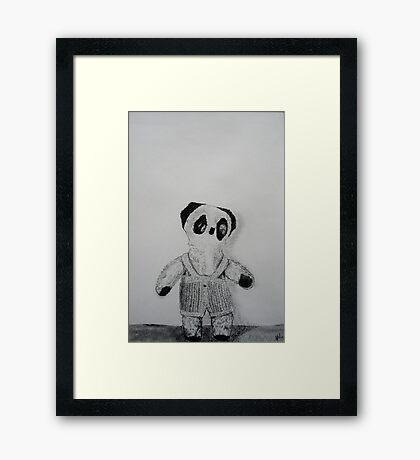 Knitted Overalls Framed Print