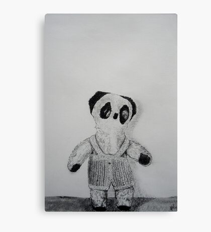 Knitted Overalls Canvas Print