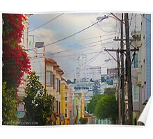 Lower Pacific Heights Alley Way.  Poster