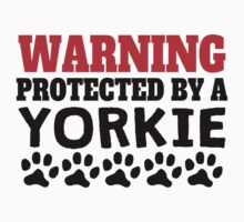 Protected By A Yorkie Kids Tee