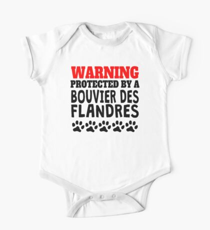 Protected By A Bouvier des Flandres One Piece - Short Sleeve