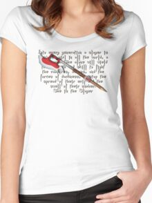 Buffy Slayer Scythe Women's Fitted Scoop T-Shirt