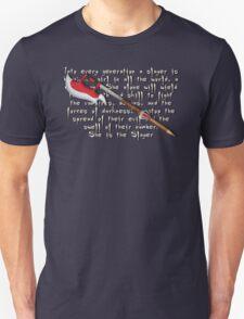 Buffy Slayer Scythe Unisex T-Shirt