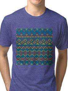 Seamless abstract geometric pattern Tri-blend T-Shirt