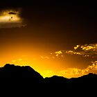 Sun Set at Fish Spring NWR, West Desert utah by Robbie Knight