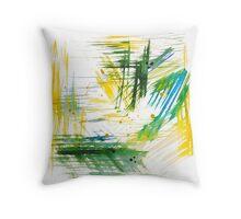 Watercolor abstract strokes Throw Pillow