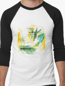 Watercolor abstract strokes Men's Baseball ¾ T-Shirt