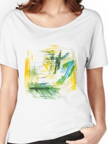 Watercolor abstract strokes Women's Relaxed Fit T-Shirt