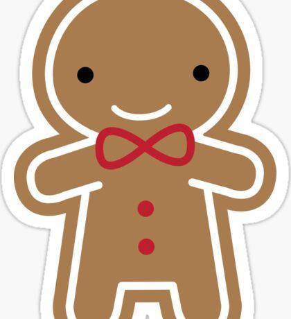Cookie Cute Gingerbread Man Sticker