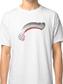 Heart rainbow grey Classic T-Shirt