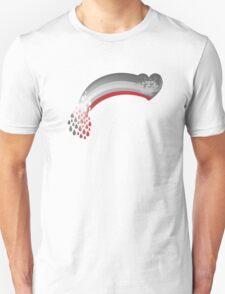 Heart rainbow grey Unisex T-Shirt