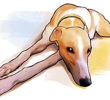 Bored grey hound by Orfenn17