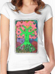 Percentum Fruit Tree Women's Fitted Scoop T-Shirt