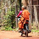 Monk on a Moped by KelseyGallery
